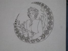 Mucha Enjolras Sketch by RiderRRiddle