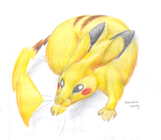 The REAL Thing - Pikachu by PoonieFox