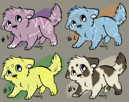 Puppy Adoptables =OPEN= by Huskerd