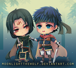 Chibi Ike and Soren by MoonlightTheWolf