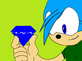 me with chaos emerald by bluehedghog