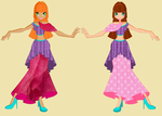 Tamara and Lora new dresses by winxgh