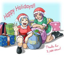 X-Mas cuties color by RedShoulder