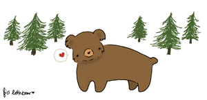 Little Bear Sketch by beyourpet