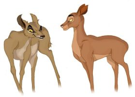 Zira and Sarabi Bambified by Professor-R