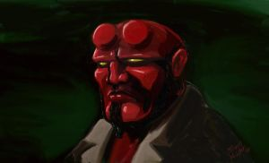 hellboy : A Study by theRealJohnnyCanuck