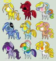 Adoptables OPEN! (50 Theme Challange 1-9) by Deathamena-Pinkamena