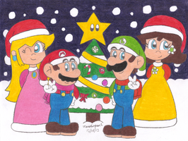 Super Mario Bros Christmas by MarioSimpson1