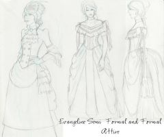 Evangeline's dresses by Elorviel