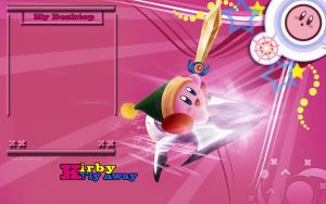 Kirby Fly Away Wallpaper by ffadicted