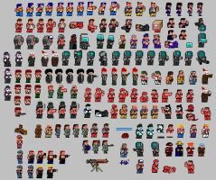 FK's TAWC Sprite Sheet by HooHa-Man