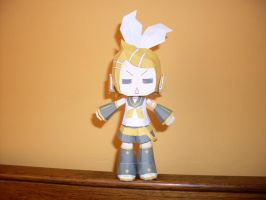 Kagamine Rin Papercraft by AZBY