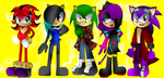 Red, Shiver, Kenny, Get and Kyle by MasterChaotix