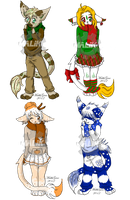 Winter Adoptables: Set 1 [CLOSED] by Megane--Sama
