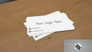 My Free Business Card Mock-up (PSD) by Szesze15