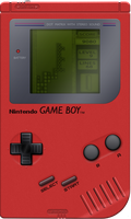 Nintendo Game Boy [Red] by BLUEamnesiac