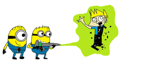 Minions vs Johnny Test. by mippytrippy