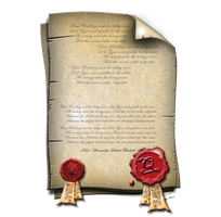Steampunk Document Icon with Seals by yereverluvinuncleber