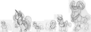MLP characters study scale by Animewave-Neo