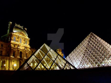 The Louvre Exterior by WyldSide-mx3