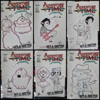 adventure time sketchcovers from otakon by Peng-Peng