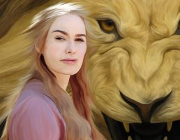 Cersei Lannister - Blended with Lion by frostdusk