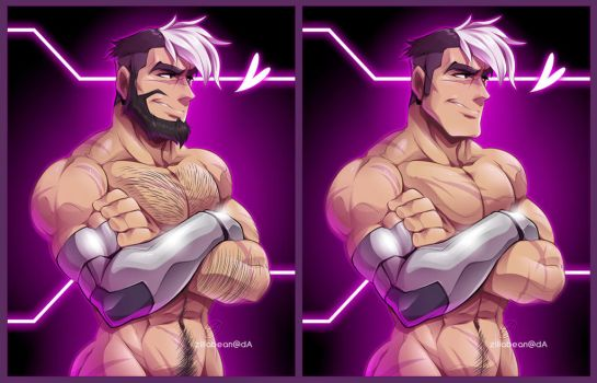 Commission: Bearded Shiro by zillabean