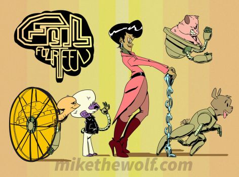 Foil Fourteen Group Shot- Side View by mikethewolf