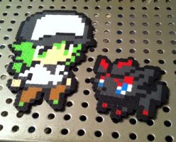 N and Zoura Perler by Ace8bit