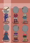 Adoptables-country outfits-auction (open) by chabbix-adopts