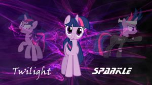 Twilight Sparkle Wallpaper by D-SixZey