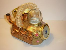 Steampunk sculpture Star car by pushok1983