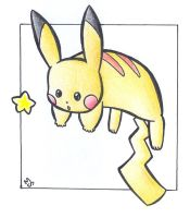Star - Pikachu .:colour:. by Fluna