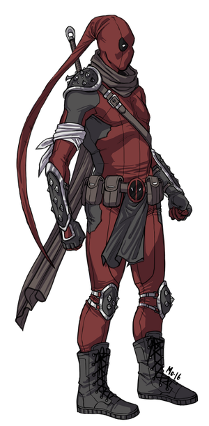 [Commission]: Street Ninja Fantasy Deadpool by BleedingHeartworks
