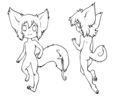 chibi tailmouth lineart - free to use! by tailmouth