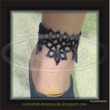 tatted anklet by dibacie