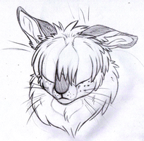 Turnip Headshot SKETCH by KasaraWolf