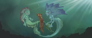 Mermaids and Otters by Rey-Paez
