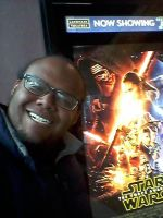 Selfie with the Star Wars poster by mylesterlucky7