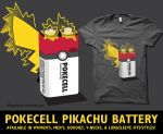 Pokecell Pikachu Battery by digitalfragrance