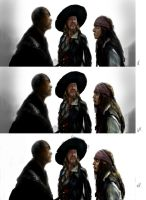 Sao Feng,Hector Barbossa ,Jack Sparrow Phase 5-7 by KomyFly