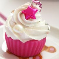 Pink Cuppycake Necklace by AndyGlamasaurus