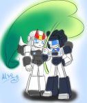 Jazz and Prowl-Rain by also07