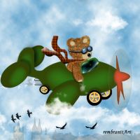 Flugteddy - flying teddy by rembrantt