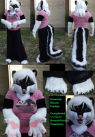 Emerald Skunk Partial suit by Monoyasha