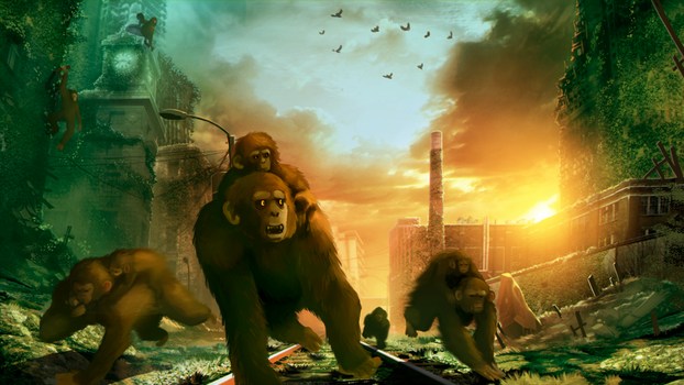 Planet of the Apes - Memorial by BlackCat5643