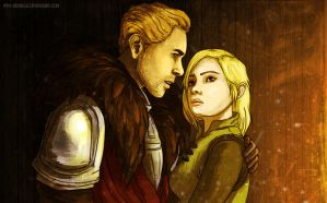Cullen and Inquisitor by Refielle