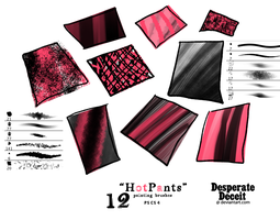HotPants Painting Brushes by desperatedeceit