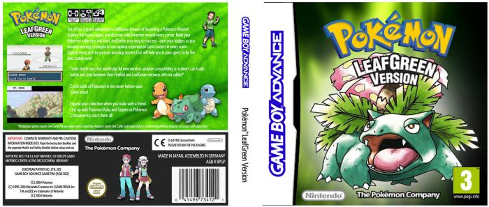 Pokemon LeafGreen - GBA+DS case by OliverGeary