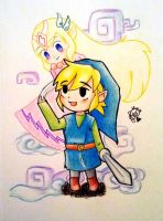 Link and Zelda by Scrapula